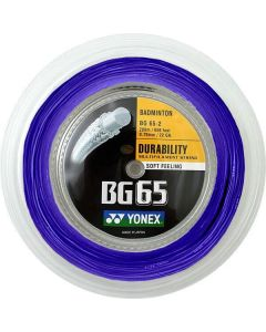CORDAGE DE BADMINTON YONEX BG 65 BLEU ROYAL GARNITURE ISSUE DE BOBINE 10M