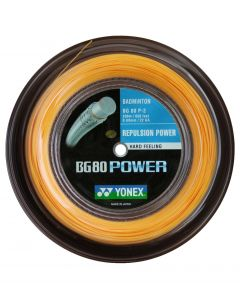 CORDAGE DE BADMINTON YONEX BG 80 POWER ORANGE BOBINE 200M