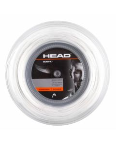 CORDAGE DE TENNIS HEAD HAWK BOBINE 200M 1.30mm BLANC