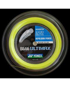 CORDAGE DE BADMINTON YONEX BG 66 ULTIMAX JAUNE BOBINE 200M