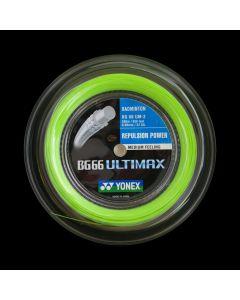 CORDAGE DE BADMINTON YONEX BG 66 ULTIMAX VERT BOBINE 200M