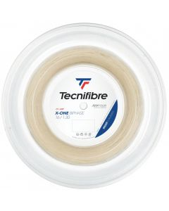 CORDAGE DE TENNIS TECNIFIBRE X-ONE BIPHASE GARNITURE ISSU DE BOBINE 12M NATUREL