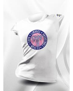T-SHIRT FEMME/JUNIOR 100% SUBLIME CAPO LIMOGES BLANC 100% Polyester