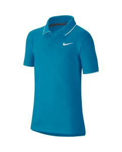 POLO JUNIOR NIKE COURT DRYFIT BQ8792 425 BLEU