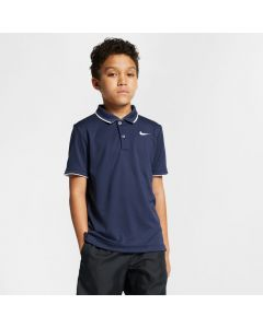 POLO JUNIOR NIKE COURT DRYFIT BQ8792 451 BLEU MARINE