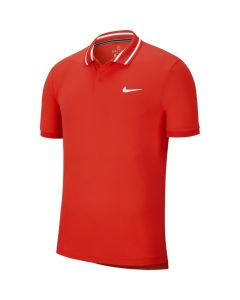POLO HOMME NIKE COURT DRI FIT BV1194 634 ROUGE