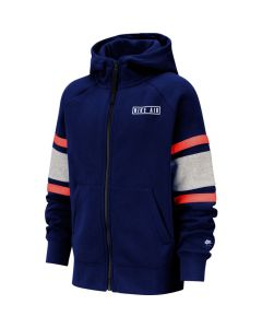 SWEAT NIKE JUNIOR FULL ZIP HOODIE BV3590 492 BLEU