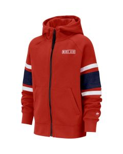 SWEAT NIKE JUNIOR FULL ZIP HOODIE BV3590 657 ROUGE