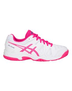 CHAUSSURE DE TENNIS JUNIOR ASICS GEL GAME 5 GS C502Y 100 BLANC/ROSE