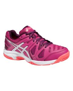 CHAUSSURE DE TENNIS JUNIOR ASICS GEL GAME 5 GS C502Y 2101 BLANC/VIOLET