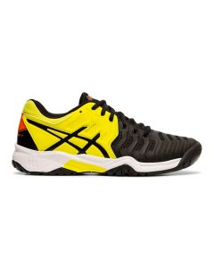 CHAUSSURE DE TENNIS JUNIOR ASICS GEL RESOLUTION 7 GS C700Y 003 NOIR/JAUNE