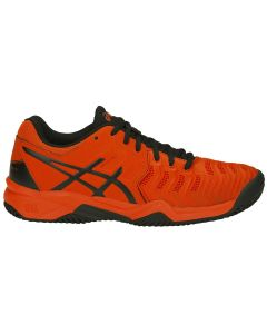 CHAUSSURE DE TENNIS JUNIOR ASICS GEL Resolution 7 GS clay C800Y 801 ORANGE