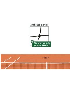 FILET DE TENNIS 3mm MAILLE 45mm DOUBLE SUR 6 RANGS FT103
