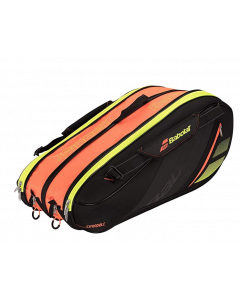 SAC BABOLAT EXPANDABLE TEAM LINE 10 RAQUETTES 751156 264 NOIR-ORANGE-JAUNE