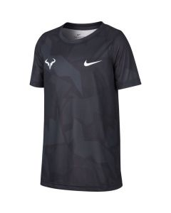 TSHIRT TENNIS JUNIOR NikeCourt Dri-FIT Rafa CD2165 noir