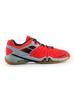 CHAUSSURES DE BADMINTON HOMMES BABOLAT SHADOW SPIRIT 2017 30S1703 ORANGE/GRIS