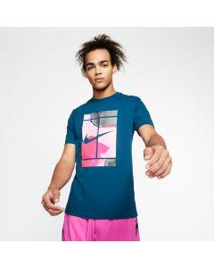 TSHIRT TENNIS HOMME NikeCourt CQ2422 432 BLEU