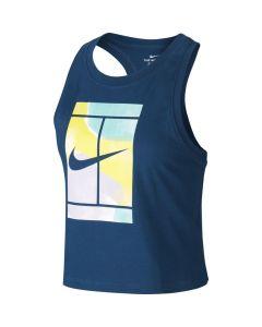 DEBARDEUR TENNIS FEMME NikeCourt BLEU CT4376
