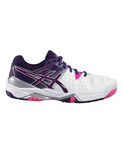 CHAUSSURES DE TENNIS FEMME ASICS GEL RESOLUTION 6 E550Y 0133 BLANC