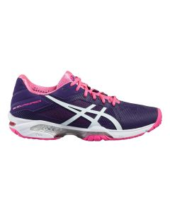 CHAUSSURES ASICS FEMME GEL SOLUTION SPEED 3 E650N 3301 BLEU/ROSE