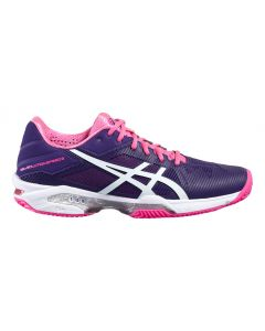 CHAUSSURES DE TENNIS FEMME ASICS GEL SOLUTION SPEED 3 CLAY E651N 3301 BLEU/ROSE