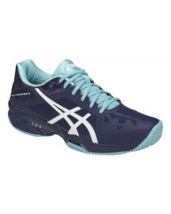 CHAUSSURES DE TENNIS FEMME ASICS GEL SOLUTION SPEED 3 CLAY E651N 4901 BLEU
