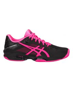 CHAUSSURES DE TENNIS FEMME ASICS GEL SOLUTION SPEED 3 CLAY E651N 9020 NOIR/ROSE