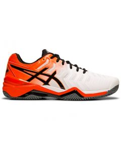 CHAUSSURES HOMME ASICS GEL RESOLUTION 7 CLAY E702Y 100 BLANC