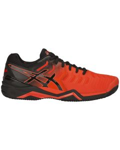 CHAUSSURES DE TENNIS HOMME ASICS GEL RESOLUTION 7 CLAY E702Y 801 ORANGE