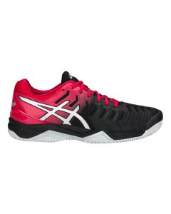 CHAUSSURES DE TENNIS HOMME ASICS GEL RESOLUTION 7 E702Y 001 CLAY NOIR/ROUGE