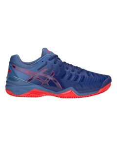 CHAUSSURES DE TENNIS HOMME ASICS GEL RESOLUTION 7 E702Y 400 CLAY BLEU
