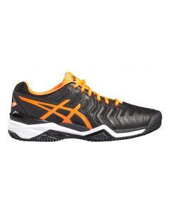 Chaussure de Tennis Homme Resolution 7 Clay E702Y 9030 Noir/Orange