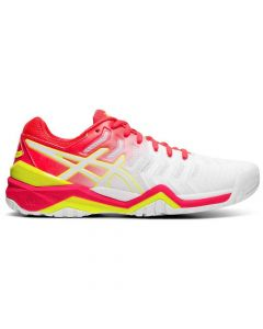 CHAUSSURES FEMME ASICS GEL RESOLUTION 7 E751Y 116 BLANC ROSE