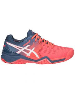 CHAUSSURES FEMME ASICS GEL RESOLUTION 7 E751Y 701 CORAIL