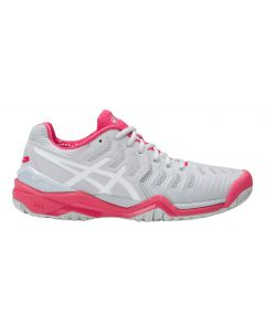 CHAUSSURES DE TENNIS FEMME ASICS GEL RESOLUTION 7 E751Y 9601 GRIS/ROUGE