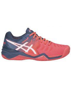 CHAUSSURES DE TENNIS FEMME ASICS GEL RESOLUTION 7 CLAY E752Y 701 CORAIL