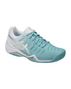 CHAUSSURES DE TENNIS FEMME ASICS GEL RESOLUTION 7 CLAY E752Y 1493 BLEU/BLANC