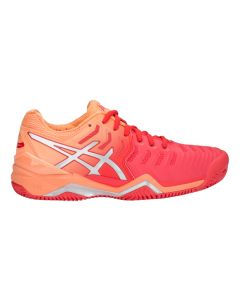 CHAUSSURES DE TENNIS FEMME ASICS GEL RESOLUTION 7 CLAY E752Y 600 ORANGE