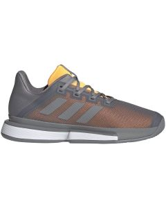 CHAUSSURES DE TENNIS HOMME ADIDAS SOLEMATCH BOUNCE ORANGE-GRIS EF0572