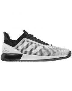 CHAUSSURES FEMME ADIDAS DEFIANT BOUNCE 2 CLAY EH0952 BLANC NOIR