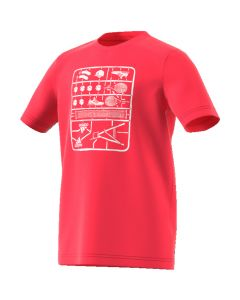 TEE SHIRT ADIDAS JUNIOR GRAPHIC TEE DV2968 ROUGE