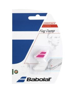 ANTIVIBRATEUR BABOLAT FLAG DAMP x2 700032 184 ROSE BLANC