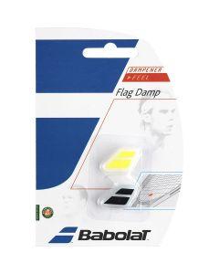 ANTIVIBRATEUR BABOLAT FLAG DAMP x2 700032 142 JAUNE NOIR