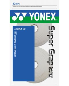 SURGRIP YONEX SUPER GRAP AC102EX-30 LOT DE 30  BLANC