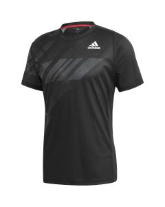 TSHIRT HOMME ADIDAS FREELIFT PRINT NEW YORK GG3746 NOIR