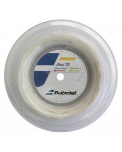 CORDAGE DE BADMINTON BABOLAT IFEEL 70 BLANC GARNITURE ISSUE DE BOBINE 10M