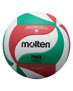 BALLON VOLLEYBALL MOLTEN VOLLEY COMPET V5M5000 LNV BLANC/ROUGE/VERT