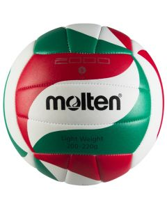 BALLON VOLLEYBALL MOLTEN VOLLEY ENTR. V5M2000-L BLANC/ROUGE/VERT