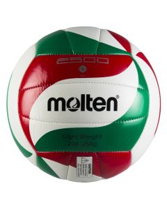 BALLON VOLLEYBALL MOLTEN VOLLEY ENTR V5M2501-L BLANC-ROUGE-VERT