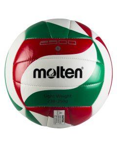 BALLON VOLLEYBALL MOLTEN VOLLEY ENTR V5M2501-L BLANC-ROUGE-VERT